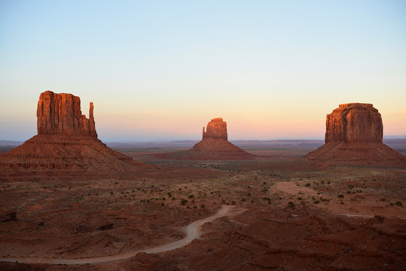 Sunset.  Monument Valley