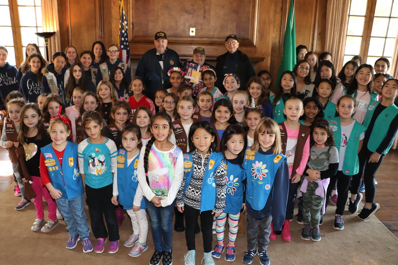 2018 VETERANS DAY WITH THE GIRL SCOUTS