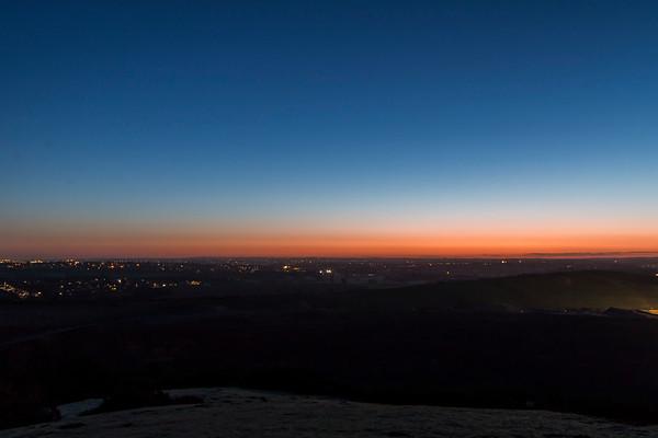 Dawn on Croft Hill Feb 2018
