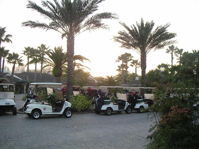 Golf carts sunrise