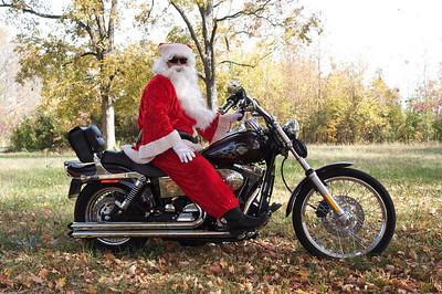 Santa on Harley