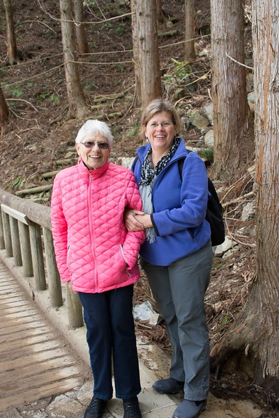 two women on a walking trail