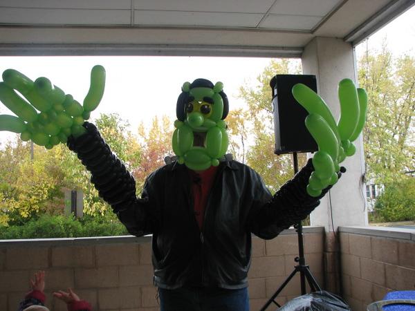 Steve's balloon costume as Frankenstein.