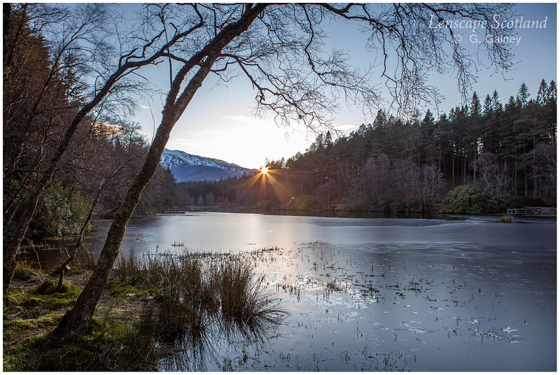 Sunset over Glencoe lochan
