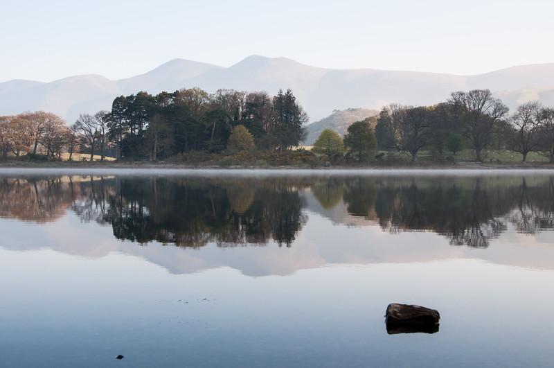 Morning light on Lake District mountains