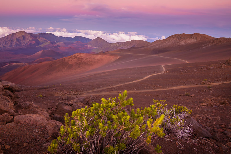 Maui Mountain View During Sunset