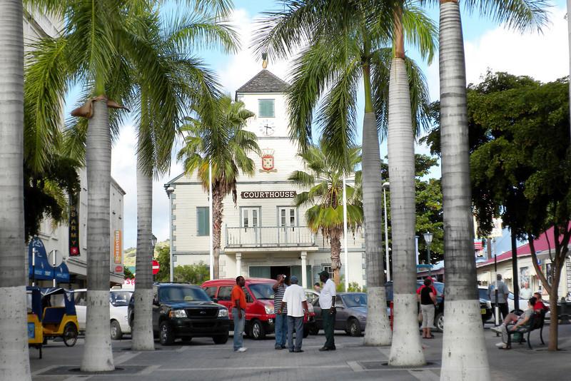 Court house in Philipsburg, St. Maarten, Netherlands Antilles
