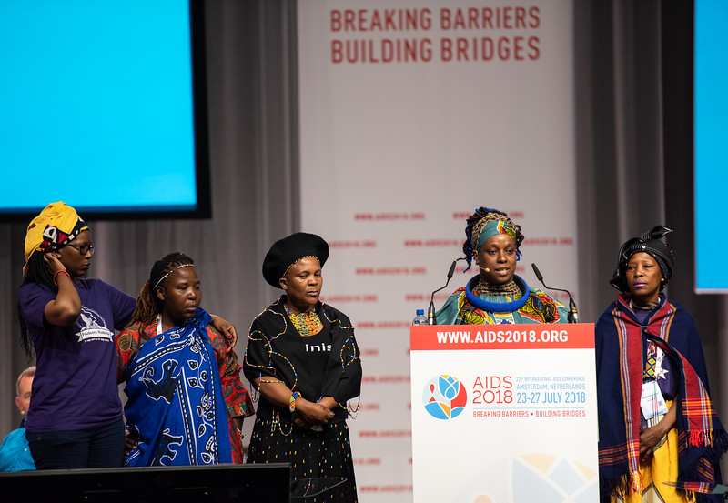 22nd International AIDS Conference (AIDS 2018) Amsterdam, Netherlands.   Copyright: Steve Forrest/Workers' Photos/ IAS  Photo shows: Special Session: The legacy of Prudence Mabele: Championing gender justice and health equity. Presentation of the Prudence Mabele Prize by Yvette Raphael, APHA, South Africa.