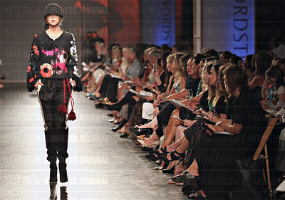 Nordstrom Desinger Preview runway fashion show at Pier-91 in Seattle, Washington reveals 2015 fall styles
