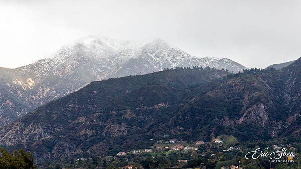 Snow in Los Angeles 2019