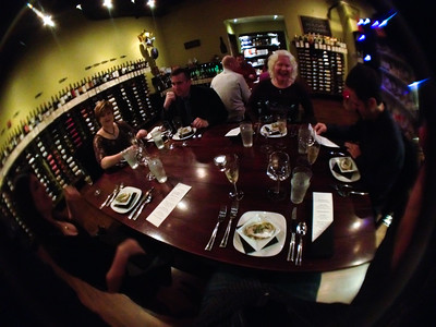 December 31, 2011 - NYE dinner and wine tasting at Screwtop. Taken with the iPro fish-eye lens on the Iphone.