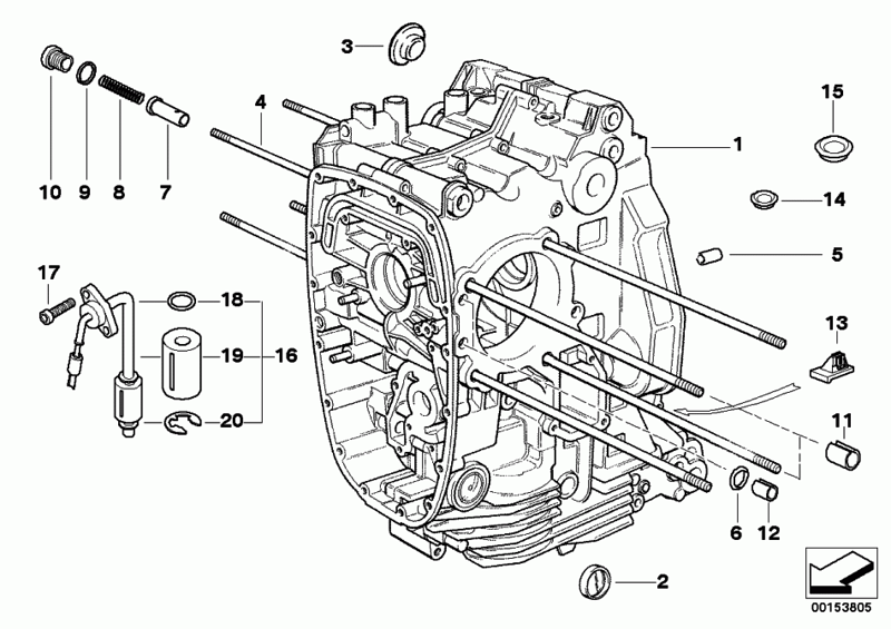 R1200GS engine block scematic / diagram