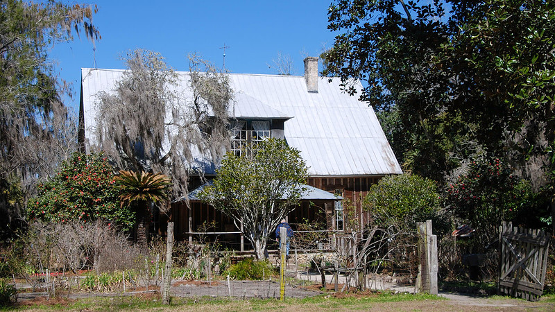 House from the late 1800s with steep pitched roof