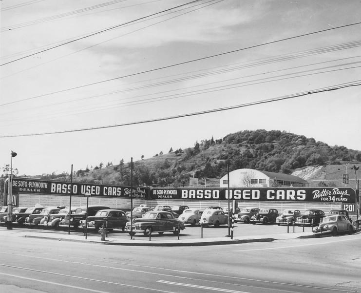 1950s, Used Car Lot