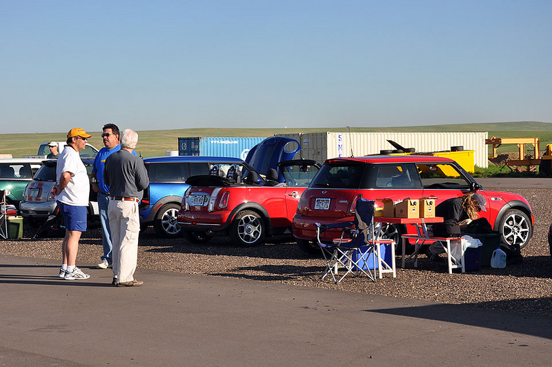 Busy at the paddock before the big drive.