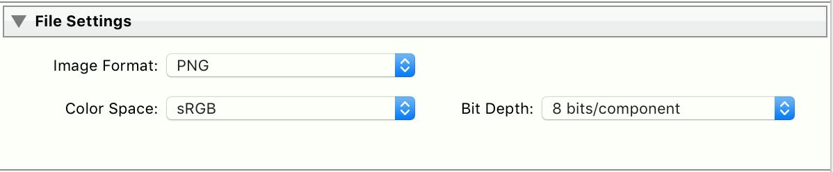 File Settings - PNG