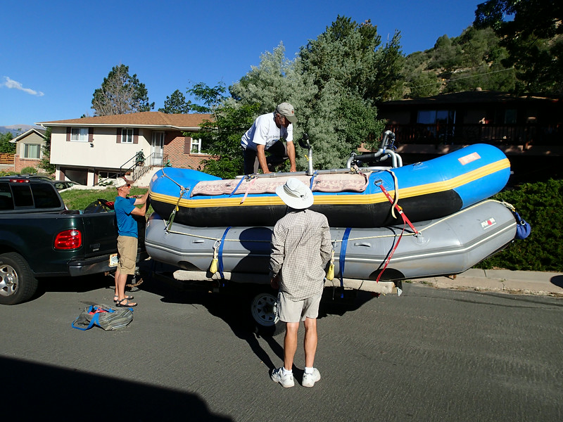The boats are the same size. ..Brian's will be rigged for paddlers, while David's will be rigged for him to oar.