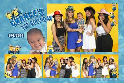 Chance's 1st Birthday (Multi-Photo Collage)