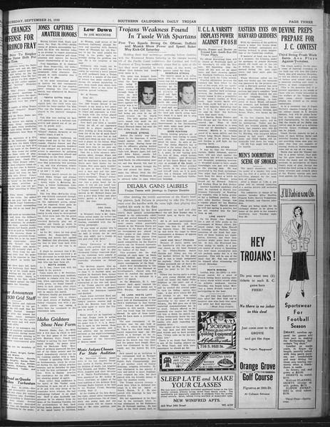 Daily Trojan, Vol. 22, No. 10, September 25, 1930