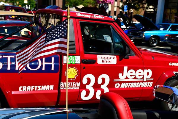 9/21/2019 Mike Orazzi | StaffnA Jeep Comanche pickup truck on display during the New Britain Downtown District's 13th annual car show on Saturday.