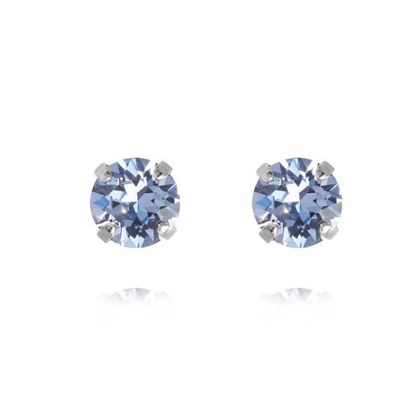 Classic Stud Earrings / Light Sapphire Rhodium