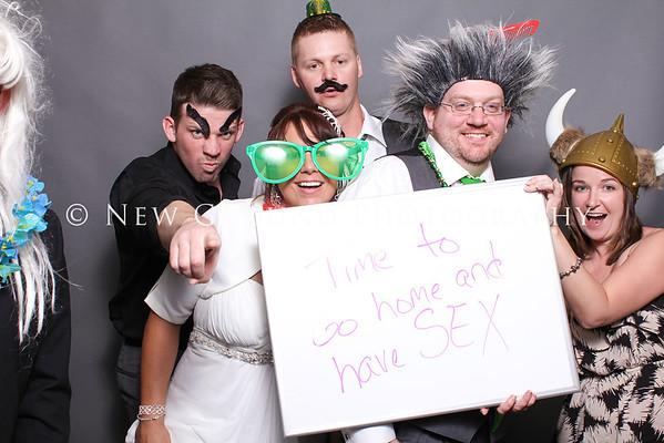 Gina + Clint Wedding Photobooth