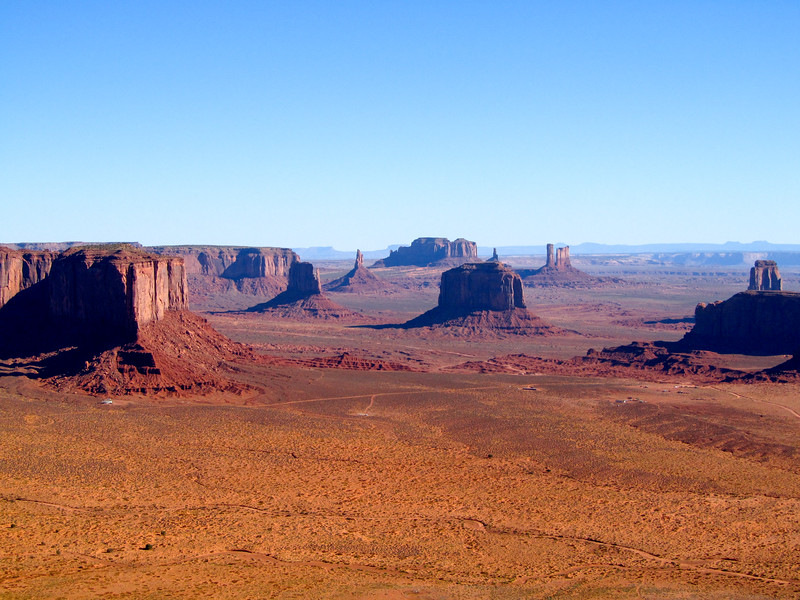 Monument Valley from above