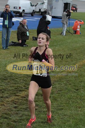 Top Finishers, D1 Girls - 2013 MHSAA LP XC Finals