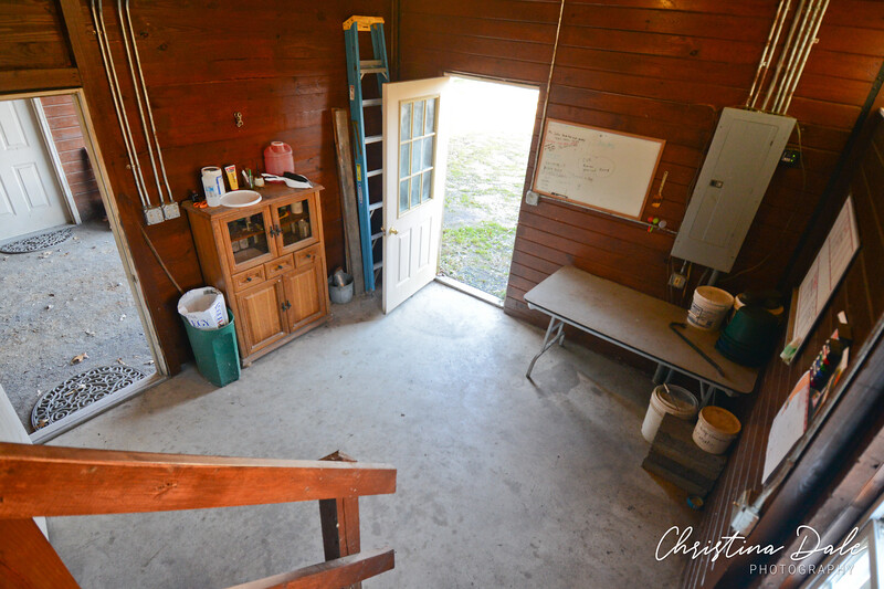 Feed room from loft stairs.
