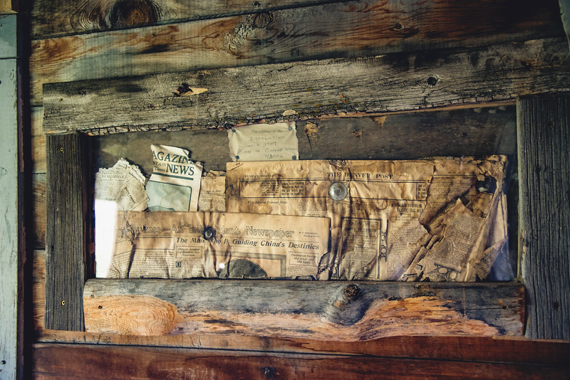 Actual newspaper insulation from the Gustavson Home, dated 1907
