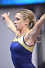 MORGANTOWN, WV - MARCH 8: West Virginia University gymnast Melissa Idell practices on the vault during a dual meet March 8, 2015 in Morgantown, WV.