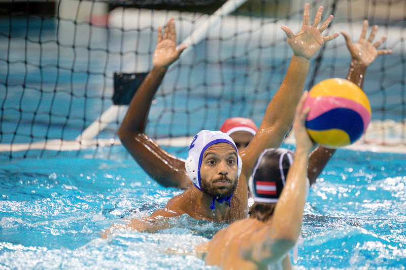 Players in action against India Vs Austria at OCBC Aquatic Centre  at Singapore on 12th oct 2019. Photo by Sanketa Anand/Sport Singapore