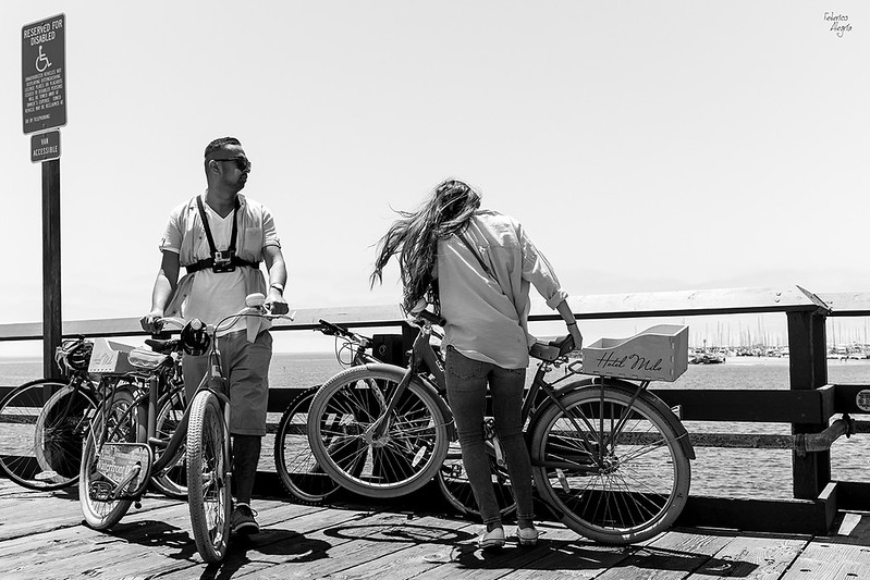Candid Photography - Two Bikers on the Pier