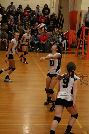 Lee vs. Mount Greylock Volleyball in Western Mass. D-III Semifinals - 110619
