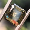 4.57ct Fancy Dark Greenish Yellow Brown Asscher Cut Diamond GIA 32