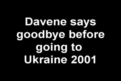 "Davene says ""bye"" to family going to Ukraine"