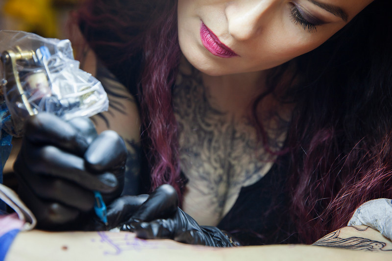 Tattoo Artist Xenia Jokris. Saint Petersburg, 2019.