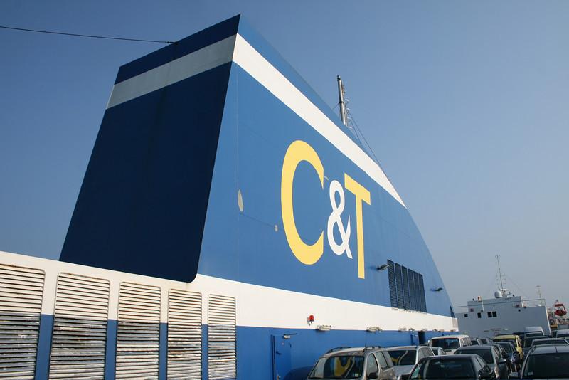 2009 - On board F/B CARTOUR GAMMA : the funnel.