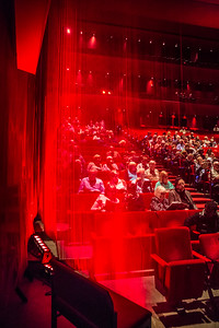 Audience getting seated for the show at the Guthrie Theatre