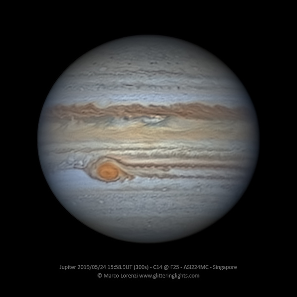 Jupiter on May 24, 2019 (15:58.9 UT)