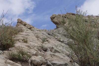 Climbing the Vasquez Rocks
