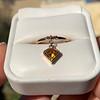 .84ct Fancy Deep Orange-Yellow Shield Shape Diamond Charm Ring 7