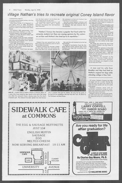 Daily Trojan, Vol. 73, No. 31, April 03, 1978