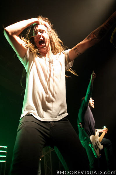 Spencer Chamberlain and Grant Brandell of Underoath performs in support of Ø (Disambiguation) on November 26, 2010 at The Ritz in Ybor City, Tampa, Florida