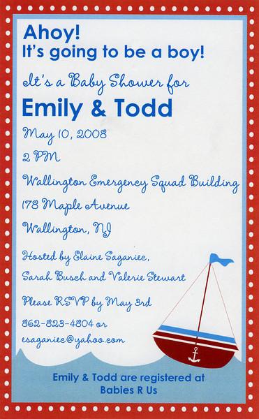 Emily & Todd's Baby Shower 5-10-08
