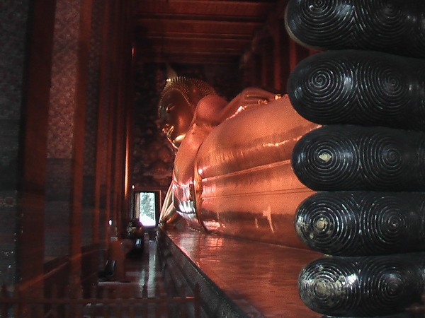 Temple of the Reclining Buddha, Bangkok, Thailand - November 2004
