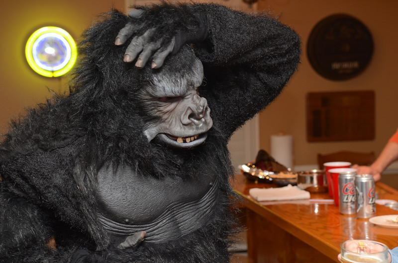 Preston in the gorilla suit