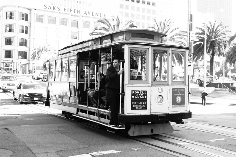 San Francisco cable car system in California