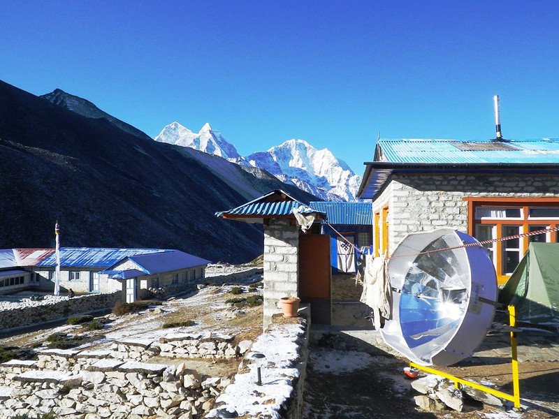 We spent Apr 14th night in Dingboche (14,469ft = 4.410m).
