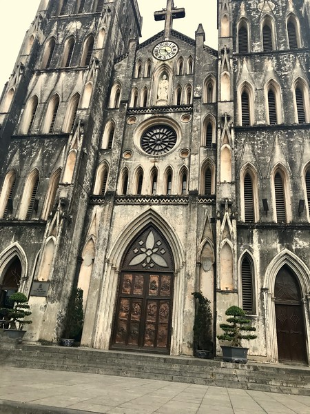 St. Joseph's Cathedral in Hanoi serves as the Roman Catholic church to the nearly 7 million Catholics in Vietnam representing about  7% of the total population.